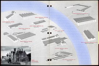 Dowty annual report 1954 showing various locations