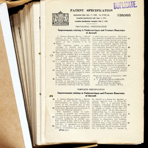 Folder of Dowty patents