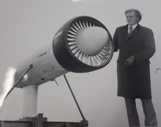 Visit by Government Minister Rt Hon Michael Heseltine MP Defence Secretary 1983-86 | Original photo in the Dowty archive at the Gloucestershire Heritage Hub
