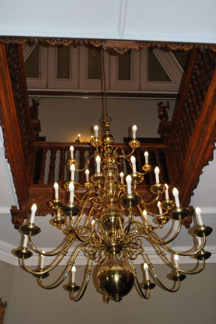 Arle Court House - Chandelier in Foyer | J W Redfern