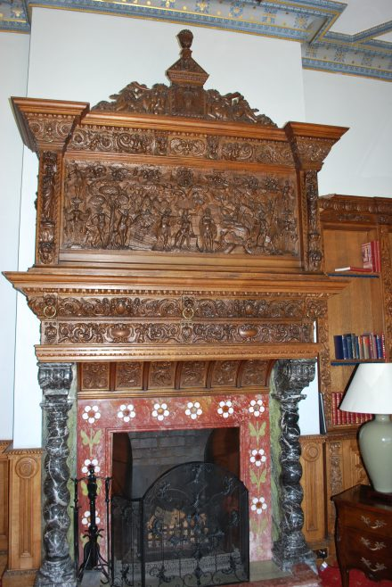 Arle Court House - Fireplace in Library | J W Redfern