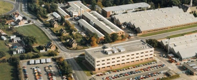 Aerial photo of DHU and DFS circa 2000