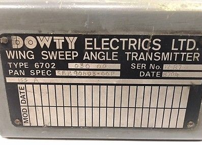 Dowty Electrics - Tornado wing sweep transmitter