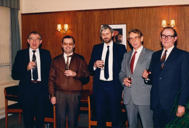 Dowty Electrics - 1980's John Bane 2nd Left