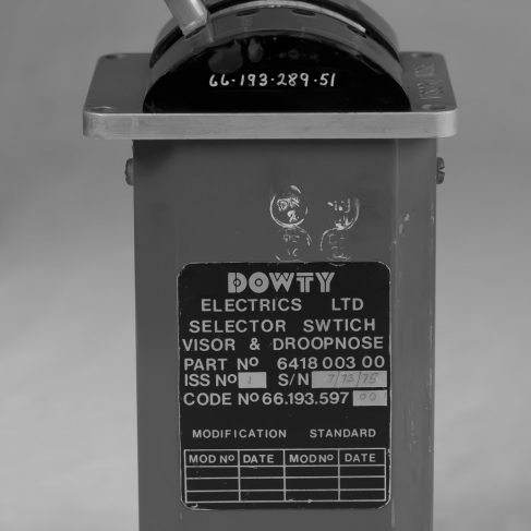 Dowty Electrics - Concorde selector switch for Visor and droop nose