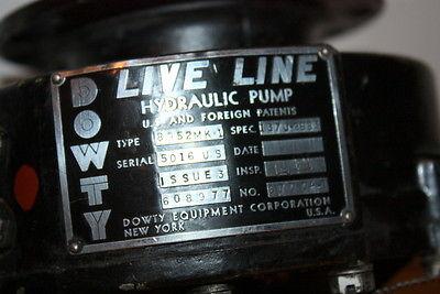 Dowty Equipment - Live Line Hydraulic Pump