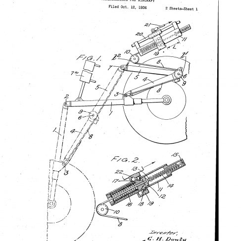 1942 Undercarriage Patent Drawing