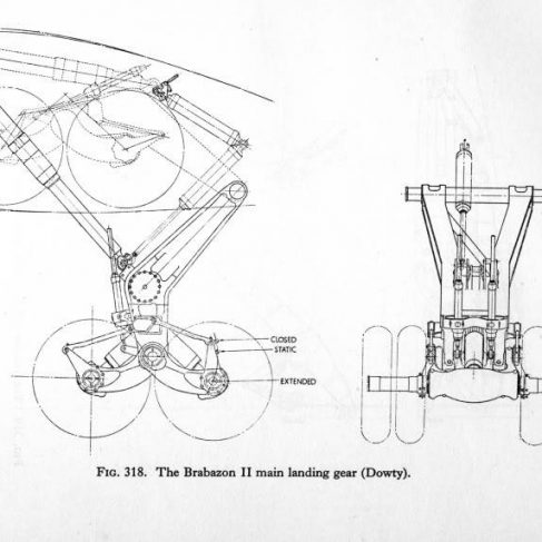 Drawing of Brabazon II Main Landing Gear