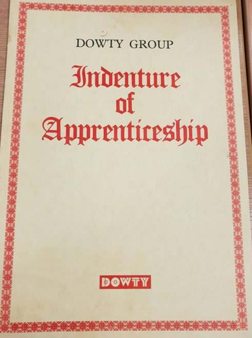 Dowty Group Services - photo of Apprentice Indenture Document of Stephan Sawczuk | S Sawczuk