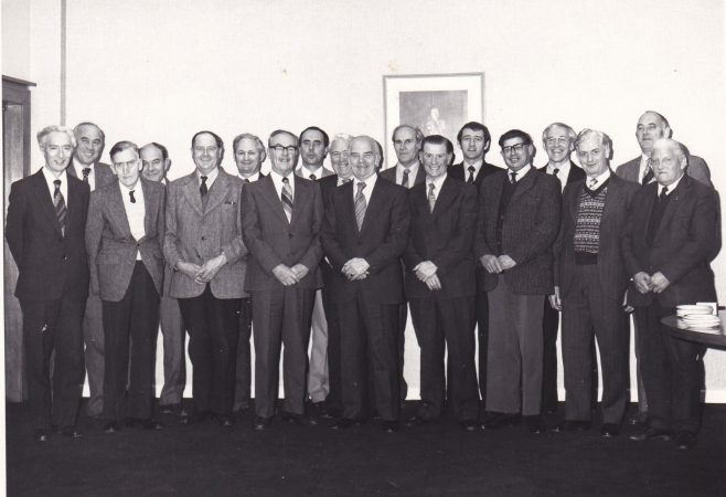 Arthur Turner Long Service Presentation 1979 Back row: Pat White, Tom Cutler, and Alan Fenwick To the right of Arthur: Ron Sallis