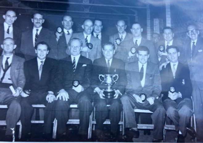 Dowty Mining Equipment Skittles Team late 1950's
