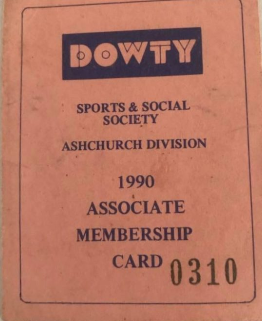 Ashchurch Sports & Social Club Membership Card