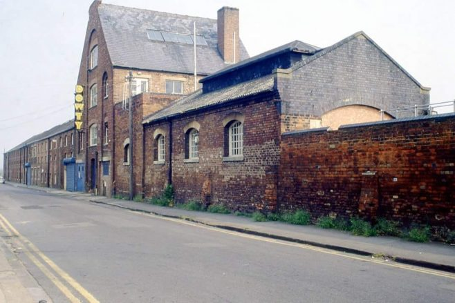 Old Dowty factory in Station Street Tewkesbury. Sadly knocked down in the 1980s.