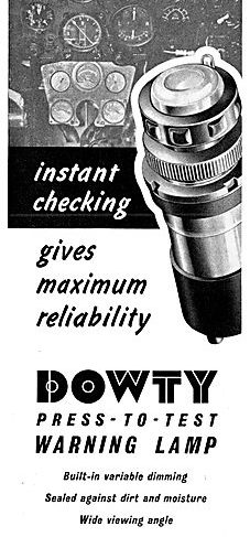 Dowty Nucleonics - Press-to Test Warning Lamp