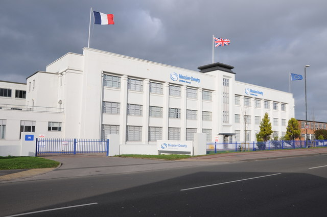 Dowty Rotol - The white front building and many others are still in existence. The front building now belongs to Safran.