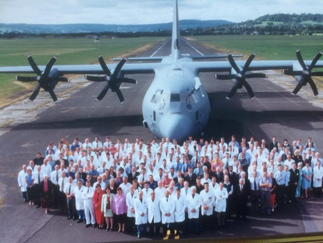 Dowty Rotol - Photo is of Propellers workforce in front of C130J