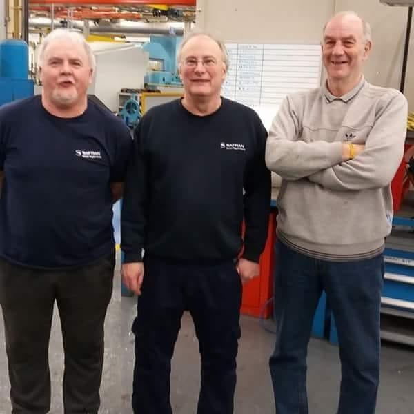 Dowty Rotol - L-R: Brian Jones, Steve Pocock, and Eddie Marr.