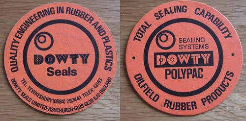 Dowty Seals Beer Mats