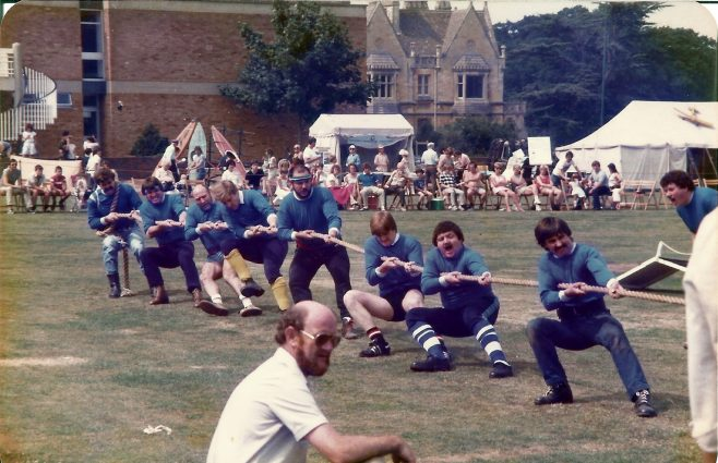 Arle Court 1984 - Tug-O-War winners DFS Machine Shop