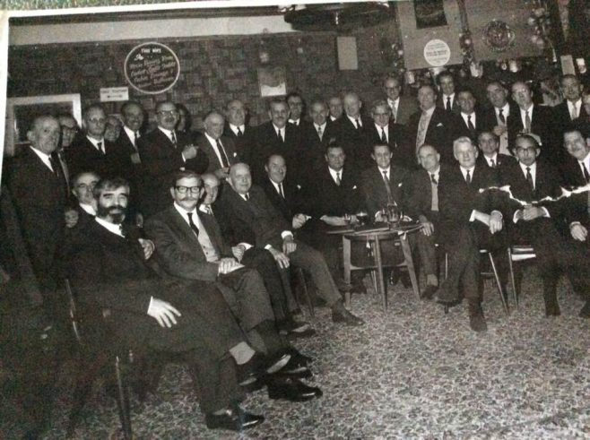 Re-Union of employees of New Mendip Engineering Ltd, Atworth at a function in the The Market Tavern and Roundabout Nightclub, Melksham 31st March, 1971.