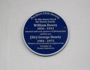 George Dowty Blue Plaque at Pershore