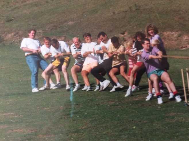 Annual DFS Summer BBQ at Beechenhurst in the Forest of Dean circa mid 1980's