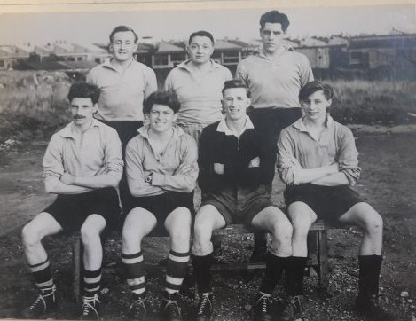 Dowty Rotol Rugby 7's team, early 1950s