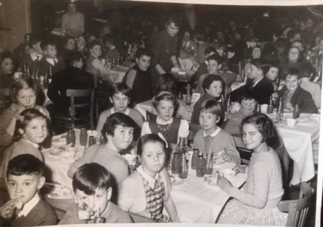Dowty's childrens' Christmas party at Dowty Rotol in Jan 1955
