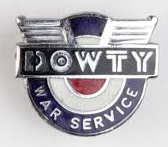 Dowty War Service Badge