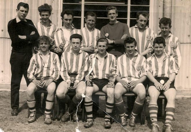 Dave Mace with the Dowty Mining Equipment Football Team in 1960's