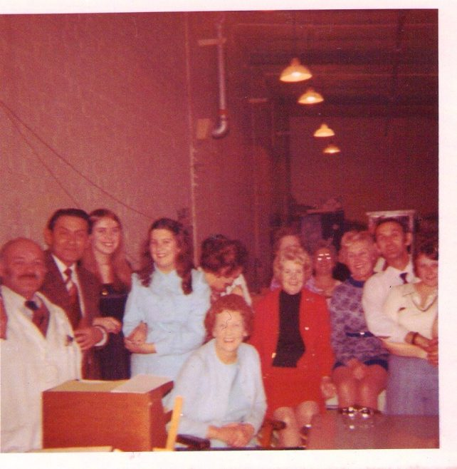 Staff in ELS - South Works Xmas 1974