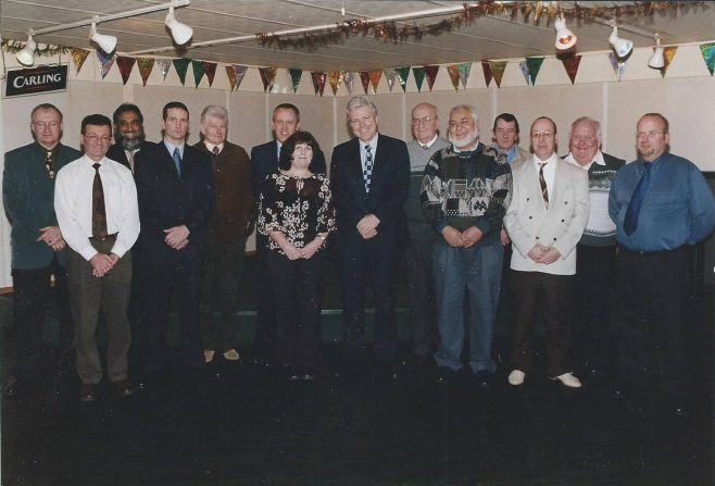 25 Year Service 2002 Lesley Mills in middle