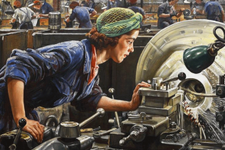 Painting of Women at War