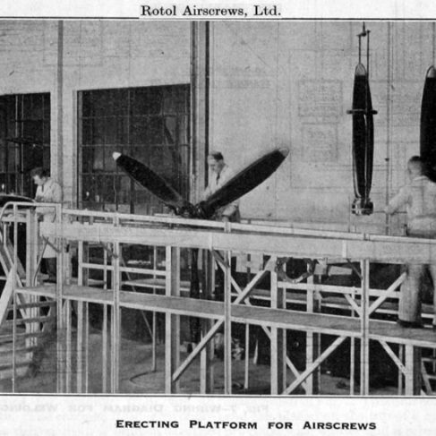 Erecting platform for propellers