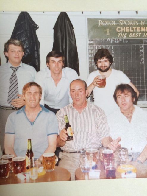 Back row left to right: Mike Ashmead; Terry, Mike Poole; Front: Ernie Spires and Charlie Dunn