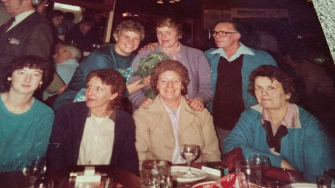Ladies from the trimming section, including: Jackie Hughes; Margaret Langstone; Dot Davis; Edith Hanks: Margaret Beard | Marina Sollis