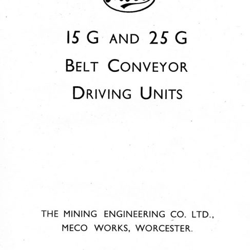 Dowty Meco Publication - 15G & 25G Belt Conveyor Driving Unit