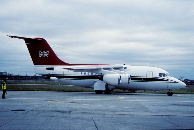 British Aerospace 146 Jet Aircraft of the Queens Flight