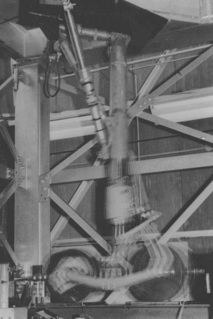 Avro Arrow - Main Gear Undergoing Vibration Test