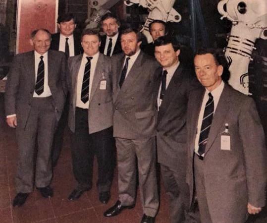 Colin Thornton; John Herring at Dowty Rotol Assembly BAE-146 Main Landing Gear | Liz George