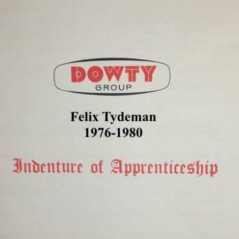 Felix Tydeman - Apprentice Completion 1980