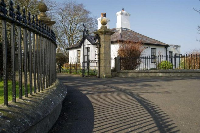 Brockhampton Park Gates with Piers removed and relocated to Balladoole House in the Isle of Man