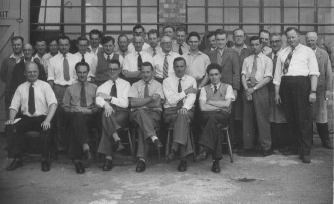 Ron Sutton; with the team from #6 Hangar, Staverton. Ron is 6th from left on second row and Tony Chapman 5th from right on second row | Gary Sutton