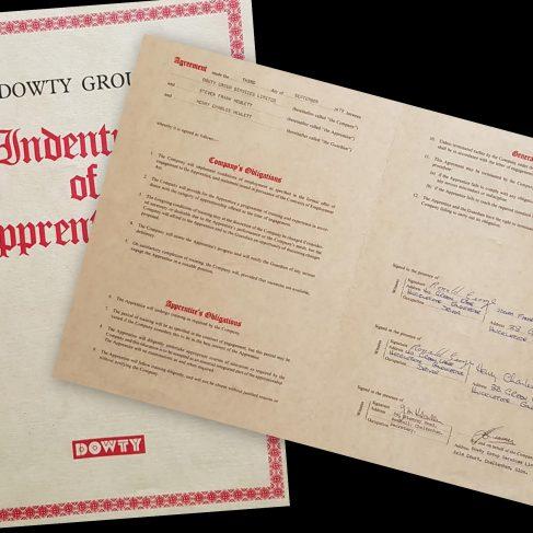 Steve Hewlett 1979 - Apprentice Indenture Agreement | Steve Hewlett