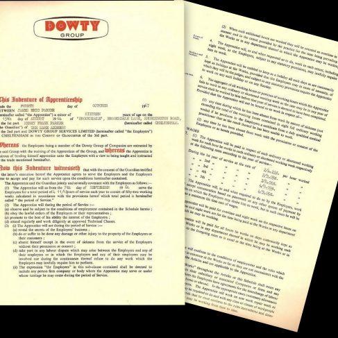 James Parker 1964 - Apprentice Indenture Agreement | James Parker