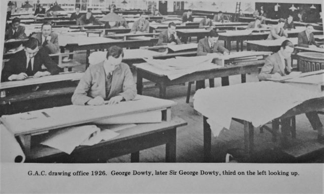 George Dowty at the GAC Design Office in 1926 | Kevin Cox