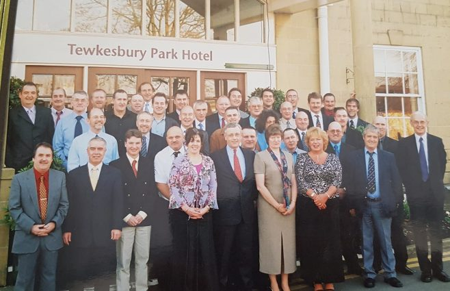 20 year award at Tewkesbury Park Hotel 2003 | Paul Faulkner