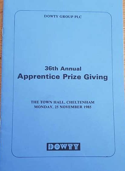 Dowty 36th Annual Apprentice Prize giving November 1985 | Paul Faulkner