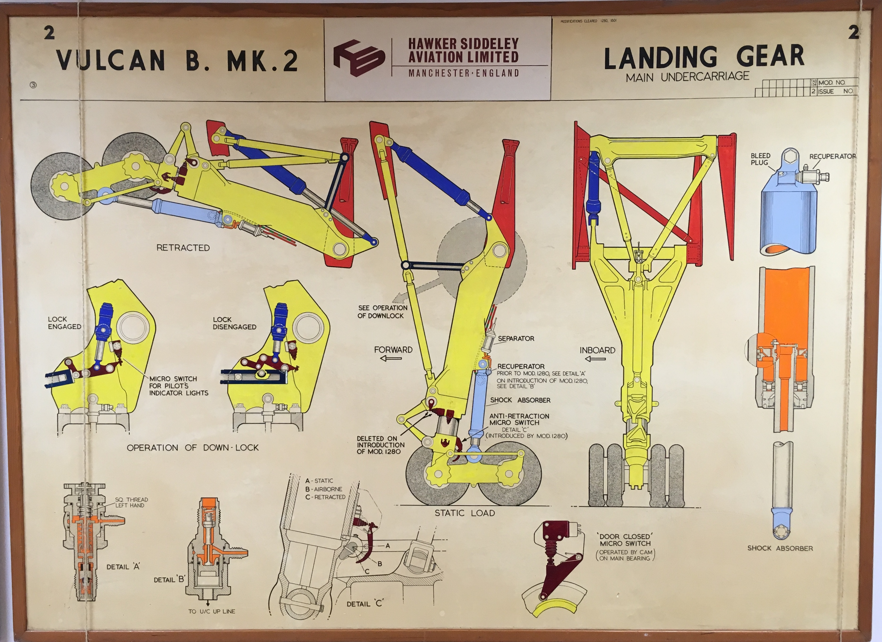 Vulcan B Mk 2 Landing Gear Hawker Siddeley Drawings   Dowty