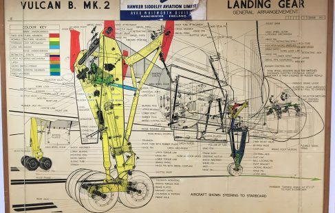 Vulcan B Mk 2 Landing Gear Hawker Siddeley Drawings